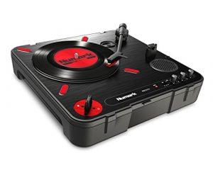 Numark PT01Rayures | platine vinyle Portable avec switch DJ Scratch Intégré, haut-parleur, poignée de transport
