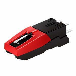 Cartouche Phono de Platine Vinyle avec Remplacement Stylus Noir et rouge pour Tourne-disque Vinyle Economique Durable DeviceBlack + Red