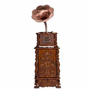 Hammer Disque Vinyle Vinyle phonographe rétro/Antique Trois Vitesses Vinyle Platine Vinyle Portable, Phonographe Big Horn à la Maison Bluetooth phonographe Antique stéréo, Grande décoration de lecte