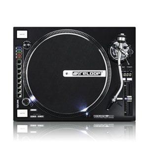 Tourne-disque Reloop RP-7000,pour DJ, avec couple élevé, entraînement direct par Quartz, réglable en hauteur Bras en S + section MIDI Schwarzmetallic