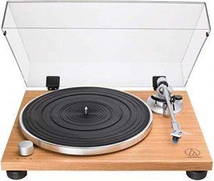 Audio-Technica AT-LPW30TK Tourne-Disque entraîné par Courroie Bois – Platines (Tourne-Disque entraîné par Courroie, Manuel, Bois, Aluminium, 33 1/3,45 TR/Min, 115/230V AC, 60/50 Hz)