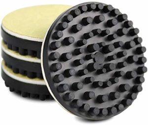 Fayeille Caoutchouc Denoise Isolation Tampon Circulaire Disque Coussin pour LP Disque Platine, 0.4 » Épais 2 » Diapositive Choc Absorbeur Phonographe Tapis, Paquet de 4