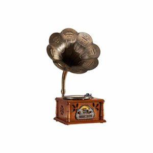 GOM Platine Vinyle, Bureau Vintage Phonographe Conversion avec Trois Vitesses 33/45/78 Tours Soutien Lecture USB Lecture Bluetooth Lecture de CD Sorties RCA GOM-002