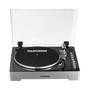 Telefunken tt200| Professional Turntable | Tourne-disque | Télécommande numérique | avec aiguille de rechange | 2vitesses