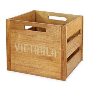 Victrola Caisse à disques en bois
