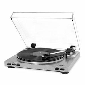 Victrola Platine USB professionnelle pour enregistrement du disque vinyle au format MP3 Blanc