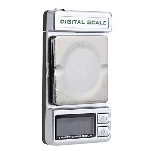 6SHINE Balance numérique Suspendue rétro-éclairage Platine Stylet Portable Affichage LCD Balance Poche électronique Double Usage Gram Force jauge Mini Bijoux Poids