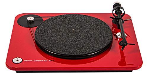 Elipson Chroma 400 RIAA Rouge laqué Platine Vinyle HiFi