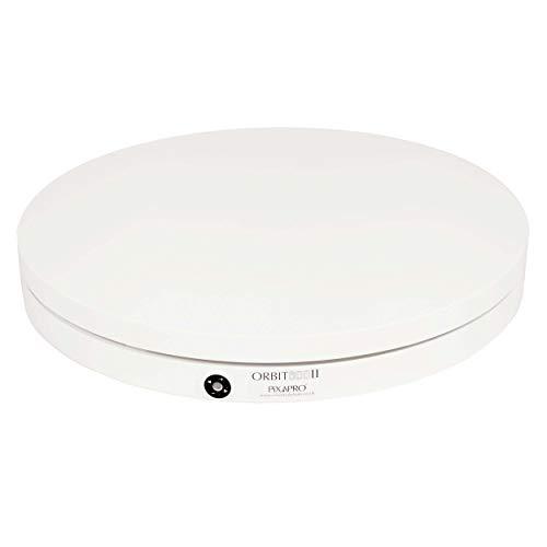 ORBIT800 Tourne-disque motorisé à 360° à trois vitesses 80 cm Blanc avec télécommande Produit E-commerce Photographie Vitesse réglable Forte capacité de charge maximale