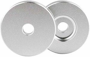 Adaptateur disque dur 7 pouces pour disques vinyles 45 tr/min, accessoires de disques vinyles pour jouer à des plaques de 7 pouces. argenté