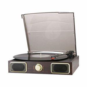ALIZJJ Record Player Turntable Wireless LP Portable phonographe Disque Turntable Lecteur Accueil phonographe Salon Rétro Chambre de Style européen