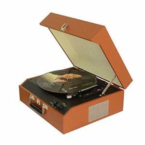 Asffdhley Plateau tournant Bluetooth Retro Bluetooth Vinyl Record Player Classic CD Turntable Music Box phonographe pour Le Divertissement et la décoration de la mais (Color : C1, Size : One Size)