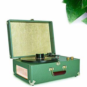Ashey Vinyl Record Modern Player Beauté, Démodées Phonographe Classique Retro Portable Vinyle Salon Européen des Ménages Phonographes
