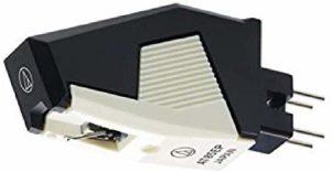 Audio Technica AT85EP Cartouche de rechange pour stylet Elliptique Noir Blanc