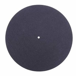 BliliDIY 280 Mm en Caoutchouc Noir LP Platine Vinyle Tourne-Disque 12 Pouces Spécial Tapis De Laine Antistatique