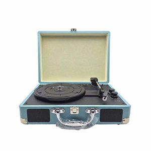 DLY – Gramophone rétro portable – Lecteur de gramophone en vinyle – 35 x 25,5 x 13 cm