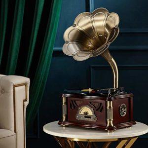 Lvhayon Big Horn phonographe Retro Vinyle phonographes Ornements Accueil Classique phonographes Président Vintage (Color : C)
