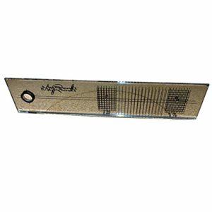 Outil rapporteur d'alignement miroir précis règle acrylique réglage étalonnage mesure phonographe jauge LP platine vinyle pratique durable