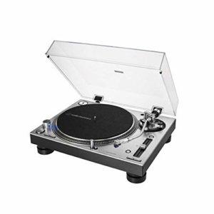 Audio-Technica AT-LP140XP Tourne-disque manuel professionnel à entraînement direct Argenté