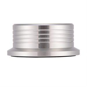 FAMKIT LP Tourne-disque en vinyle Stabilisateur de disque en métal pour disque dur et disque dur HiFi en alliage d'aluminium Pince pour lecteur de poids de disque en vinyle Argenté