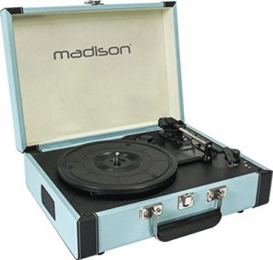 Madison 10-5550MA MAD-RETROCASE-BLU Platine vinyle