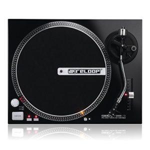 Reloop RP DJ Tourne-disque RP-2000 USB Noir métallisé.