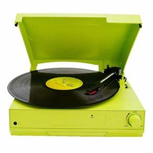 SYLOZ Disque Vinyle avec Lecteur Haut-parleurs intégrés et USB Belt-Driven Vintage phonographe Record Player for Le Divertissement et Décoration