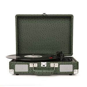Crosley Cruiser Deluxe Portable Turntable (Green Ostrich)