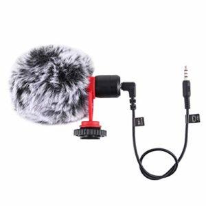 CUTICATE Enregistrement Professionnel de Studio de Microphone à Condensateur avec Le Support de Choc, Pare-Vent