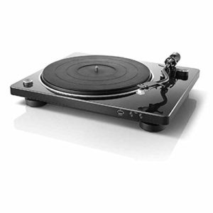 FGH QPLKKMOI Vintage Portable phonographes, Haut-parleurs USB Courroie d'entraînement numérique Turntable – (Noir)