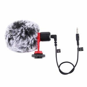 Gazechimp Condensateur de Micro de Microphone sans Fil de 3.5mm pour L'appareil-Photo de