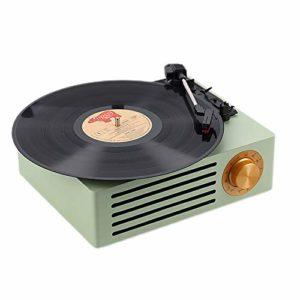 HIUHIU Bluetooth Enregistreur Haut-Parleur phonographe Tourne-Disque Vinyle Transcription de Sortie Audio RCA de Vinyle sur Le Disque U Lecture de la Carte SD