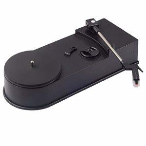 HIUHIU USB Mini Portable Platine Vinyle Lecteur Audio Platine Vinyle convertisseur MP3 / WAV/CD Mini phonographe Disque Tourne-Disque