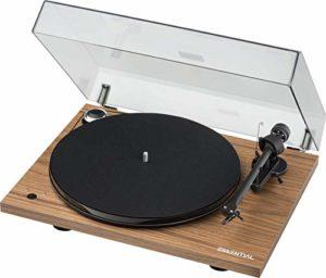 Pro-Ject Essential III Recordmaster Tourne-disque avec commutation électronique de la vitesse et sortie USB (noyer)