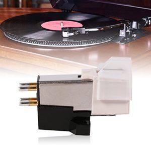 Wacent 1 pc Tourne-Disque phonographe Aiguille de ramassage Stylet Cartouche d'aimant Mobile, Composants mécaniques industriels durables Accessoires avec vis de Montage