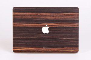 WOODWE Autocollant en Bois véritable pour MacBook Pro 15″ Retina Display Modèle : A1398 ; mi-2012 – mi-2015 ; véritable Bois Naturel Ebony ; Couverture en Haut et en Bas
