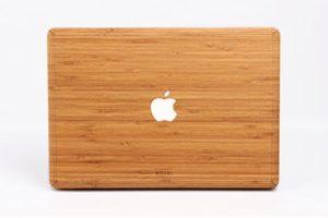 WOODWE Autocollant en Bois véritable pour MacBook Pro 15″ Touch Bar Edition – Modèle : A1707/A1990 – Fin 2016 – ‿Mid 2018 – Authentique et Naturel en Bambou – Couverture en Haut et en Bas