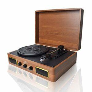 WNN-URG Disque Vinyle Avec Lecteur Haut-parleurs Intégrés Et USB Belt-Driven Vintage Phonographe Record Player For Le Divertissement Et Décoration WNN-URG