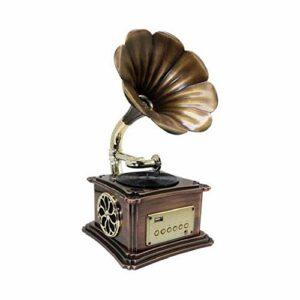 LKNJLL Player de l'enregistrement de phonographe rétro avec haut-parleur Bluetooth, aux-in, port USB pour lecteur flash, plateau tournant de gramophone vintage pour la décoration de la maison (avec le