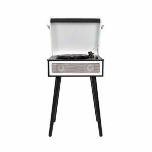 Bdesign Time rétro Gramophone, Lecteur d'enregistrement Vinyle, Bluetooth 5.0 Player d'enregistrement de Platine de Platine Audio avec Carte USB/mémoire/MMC