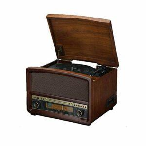 Sdesign Player d'enregistrement, Platine Plate-Forme de Vinyle Bluetooth Portable, Haut-parleurs stéréo intégrés, Lecteur 33/45/78 à 3 Vitesses, supporte de Vinyle à l'enregistrement MP3