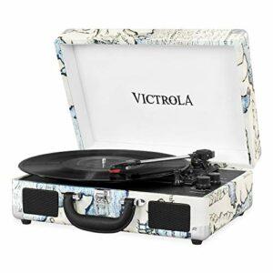 it.Innovative Technology Victrola Vintage Tourne-Disque Bluetooth 3Vitesses avec Haut-parleurs Noir