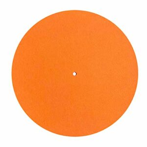 JIACUO Tapis de Plateau de Plateau tournant en Feutre LP Tapis de Glissement Audiophile 295mm diamètre pour Disque Vinyle LP