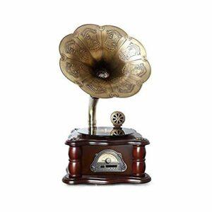 LDGS&TTW Mini phonographe rétro entièrement Automatique de Vinyle sans Fil sans Fil avec Bluetooth avec Haut-parleurs intégrés Player Vintage Subwoofer Radio Vintage