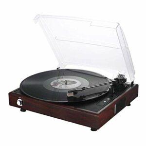 LDGS&TTW Player d'enregistrement, Player Vintage Player 3 Vitesses Lecteur d'enregistrement LP Preampl intégré, contrepoids réglable