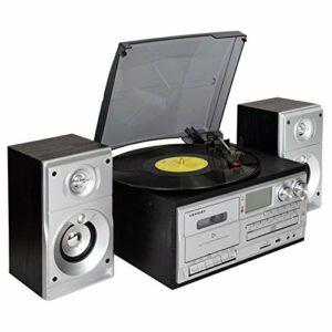 MGWA Ornements Gramophone Rétro Disque Vinyle Multifonction Machine Moderne Maison Salon Style Européen Bluetooth Stéréo Radio CD Radio Cassette Player