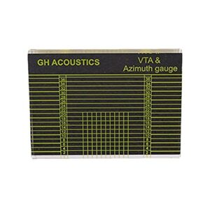 GEQIAN Outil d'alignement Rapporteur VTA platine phonographe cartouche – Outil de réglage de l'alignement du stylet adapté à la plupart des occasions
