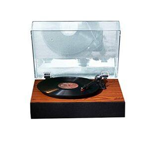 HQ2 Player Enregistrer Vinyl Player Bluetooth Turntable, Phonographe intégréeVintage, Modes de Lecture Multiples, avec Couvercle de poussière, pour Divertissement et décoration de la Maison
