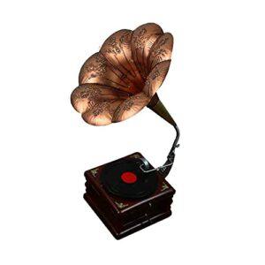 Phonographe À L'ancienne, Grand Phonographe Rétro, Artisanat De Luxe, Peut Être Utilisé pour La Décoration d'entreprise dans Le Salon Et La Chambre,Marron