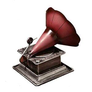 Phonographe Rétro, Modèle De Phonographe, Ancien Modèle De Tourne-Disque Rétro, Peut Être Utilisé dans La Chambre, Le Salon, Les Étagères D'étude, Les Meubles De Bureau.